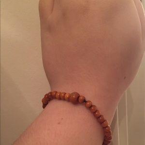 NWOT Natural Wooden Bead Bracelet